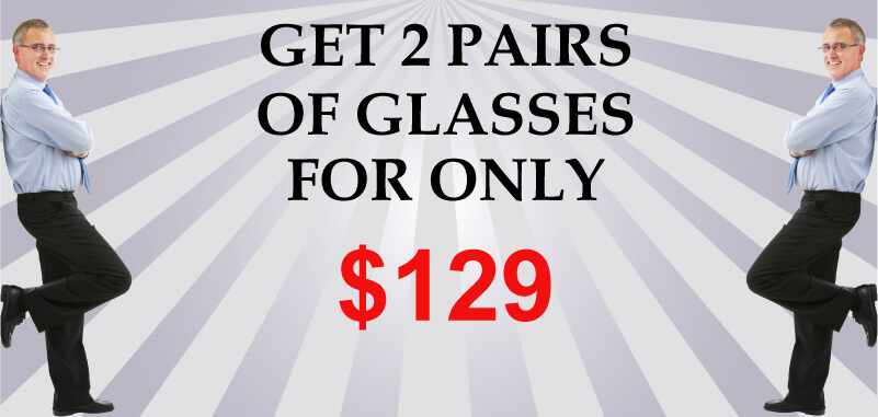 Two Pairs of Eyeglasses for 129