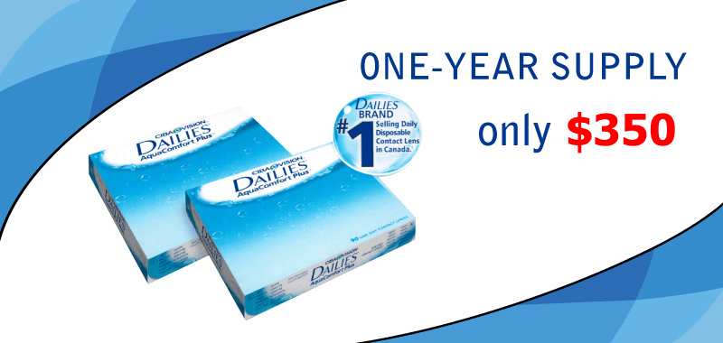 One-year Supply of Contact Lenses – Only $350